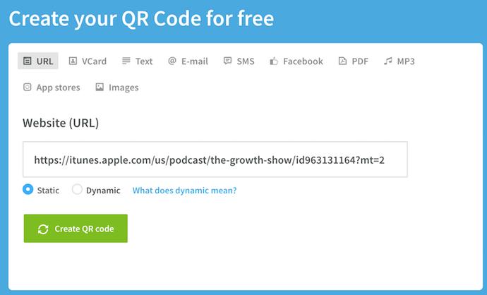 QR-website